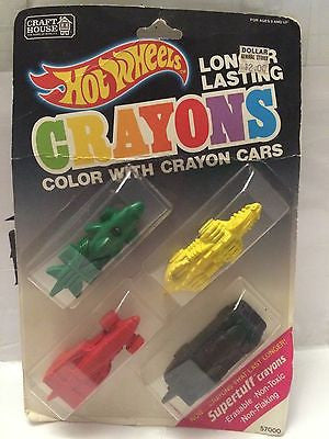 (TAS001118) - Hot Wheels Long Lasting Crayons - Color With Crayons Cars, , Crayons, Hot Wheels, The Angry Spider Vintage Toys & Collectibles Store