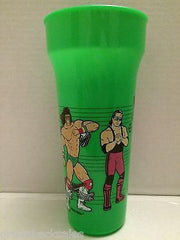 (TAS003354) - WCW WWE WWF Wrestling Plastic Cup - Green, , TV, Movie & Video Games, Unknown, The Angry Spider Vintage Toys & Collectibles Store  - 2
