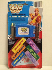 (TAS000719) - WCW WWE WWF LJN Wrestling TV View 'N' Color, , Game, Wrestling, The Angry Spider Vintage Toys & Collectibles Store