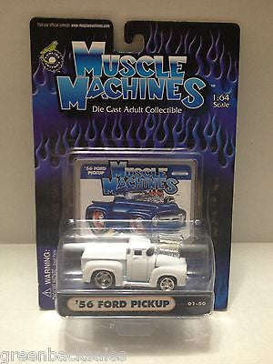 (TAS010436) - 2000 Muscle Machines Die Cast Collectible Car - '56 Ford Pickup, , Trucks & Cars, Muscle Machine, The Angry Spider Vintage Toys & Collectibles Store  - 1