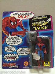 "(TAS008105) - Toy Biz Marvel Superheroes Electronic - Amazing Spider-Man ""Talks"", , Action Figure, Spiderman, The Angry Spider Vintage Toys & Collectibles Store"
