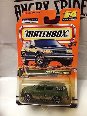 (TAS004936) - Matchbox Die-Cast Toy Car - Ford Expedition Military Police #54, , Cars, Matchbox, The Angry Spider Vintage Toys & Collectibles Store