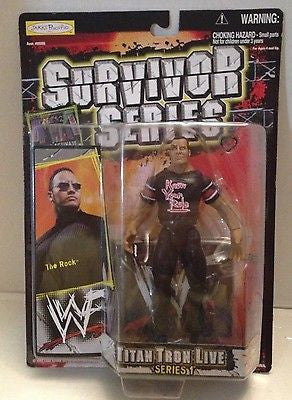 (TAS012579) - WWF WWE Vintage Wrestling Figure Jakks Titan Tron 1 - The Rock, , Action Figure, Wrestling, The Angry Spider Vintage Toys & Collectibles Store  - 1