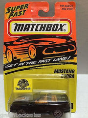 (TAS009148) - Matchbox Super Fast Die-Cast Car - Mustang Cobra, , Cars, Matchbox, The Angry Spider Vintage Toys & Collectibles Store