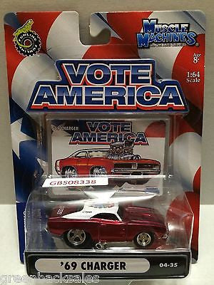 (TAS030814) - Funline Muscle Machines Vote America Die Cast Car - '69 Charger, , Cars, Muscle Machines, The Angry Spider Vintage Toys & Collectibles Store