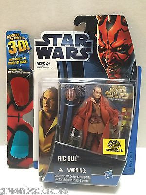 (TAS008316) - Hasbro Star Wars Action Figure - Ric Olie with 3-D Glasses, , Action Figure, Star Wars, The Angry Spider Vintage Toys & Collectibles Store