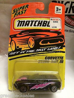 (TAS031529) - Matchbox Toy Car - Corvette Sting Ray III, , Cars, Matchbox, The Angry Spider Vintage Toys & Collectibles Store