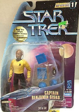 (TAS004764) - Playmates - Star Trek Warp Factor - Captain Benjamin Sisko, , Action Figure, Star Trek, The Angry Spider Vintage Toys & Collectibles Store