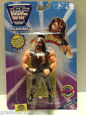 (TAS008047) - WWE WWF WCW nWo Wrestling JusToys Bend-Ems Figure - Mankind, , Action Figure, Wrestling, The Angry Spider Vintage Toys & Collectibles Store