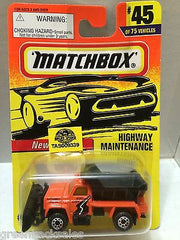 (TAS009339) - Matchbox Cars - Highway Maintence, , Cars, Matchbox, The Angry Spider Vintage Toys & Collectibles Store
