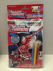 (TAS030674) - Transformers Animated Party Pack - Magic Reveal Color-N-Fun Pad, , crayons, Transformers, The Angry Spider Vintage Toys & Collectibles Store