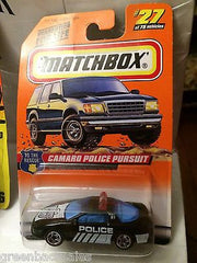 (TAS031542) - Matchbox Toy Car - Camaro Police Pursuit, , Cars, Matchbox, The Angry Spider Vintage Toys & Collectibles Store