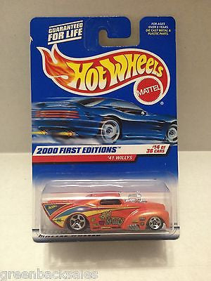 (TAS010387) - 2000 Mattel Hot Wheels Die Cast Replica - '41 Willys, , Trucks & Cars, Hot Wheels, The Angry Spider Vintage Toys & Collectibles Store  - 1