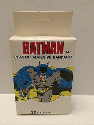 (TAS000831) - Batman Plastic Adhesive Bandages - 25, , Other, Batman, The Angry Spider Vintage Toys & Collectibles Store