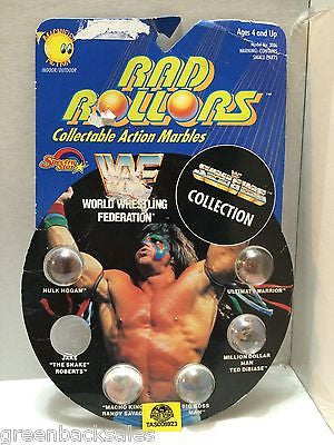 (TAS006923) - 1990 Spectra Star WWF Wrestling Rad Rollors Marbles - Hogan, , Marbles, Spectra Star, The Angry Spider Vintage Toys & Collectibles Store