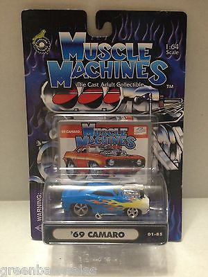 (TAS010245) - 2000 Muscle Machines Die Cast Collectible Car - '69 Camaro, , Trucks & Cars, Muscle Machine, The Angry Spider Vintage Toys & Collectibles Store  - 1