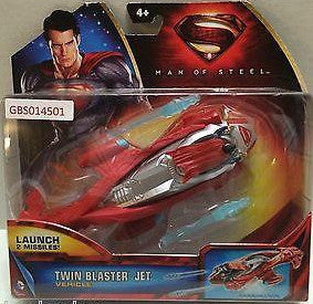 (TAS031383) - DC Comics Movie Character Superman Man of Steel - Twin Blaster Jet, , Other, Superman, The Angry Spider Vintage Toys & Collectibles Store