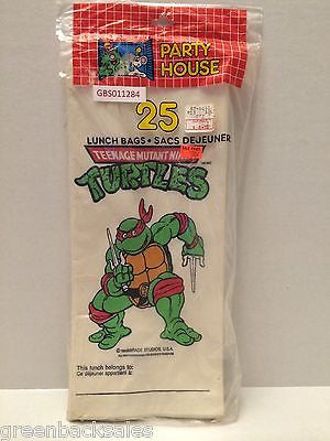 (TAS030467) - 1990 Party House Teenage Mutant Ninja Turtles Lunch Bags - Raphael, , Other, TMNT, The Angry Spider Vintage Toys & Collectibles Store