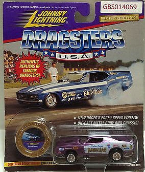 (TAS031548) - Playing Mantis Johnny Lightning Dragsters USA Car - '71 Hawaiian, , Trucks & Cars, Johnny Lightning, The Angry Spider Vintage Toys & Collectibles Store