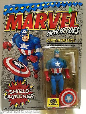 (TAS006470) - ToyBiz Marvel Superheroes Shield Launcher Figure - Captain America, , Action Figure, Marvel Toys, The Angry Spider Vintage Toys & Collectibles Store