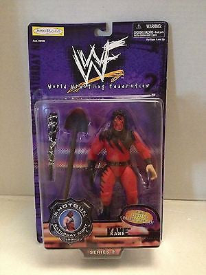 (TAS012567) - WWF WWE Vintage Wrestling Figure - Jakks Shotgun Saturday - Kane, , Action Figure, Wrestling, The Angry Spider Vintage Toys & Collectibles Store  - 1