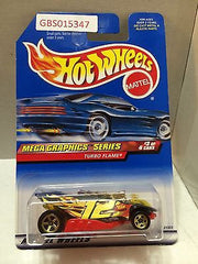 (TAS031014) - Mattel Hot Wheels Car - Turbo Flame, , Cars, Hot Wheels, The Angry Spider Vintage Toys & Collectibles Store