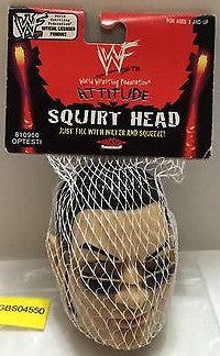 (TAS031195) - WWE WWF Wrestling Attitude Squirt Head The Rock, , Other, Wrestling, The Angry Spider Vintage Toys & Collectibles Store