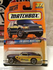 (TAS031531) - Matchbox Toy Car - '70 Boss Mustang, , Cars, Matchbox, The Angry Spider Vintage Toys & Collectibles Store
