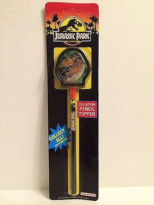 (TAS000018) - Jurassic Park Collector Pencil Topper, , Pencils, n/a, The Angry Spider Vintage Toys & Collectibles Store