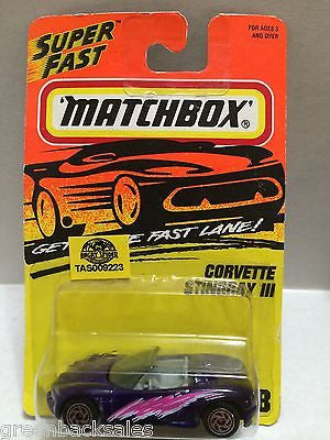(TAS009223) - Matchbox Cars - Corvette Stingray III, , Cars, Matchbox, The Angry Spider Vintage Toys & Collectibles Store