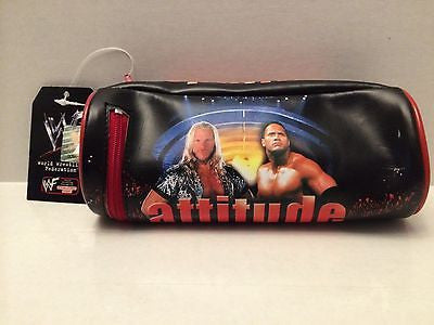 (TAS030489) - 2000 Ankar WWF WWE Wrestling Attitude Era Pencil Pouch - Jericho, , pencil, Wrestling, The Angry Spider Vintage Toys & Collectibles Store