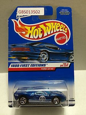 (TAS030959) - Hot Wheels 1999 First Editions Ford GT-40 #16/26, , Cars, Hot Wheels, The Angry Spider Vintage Toys & Collectibles Store