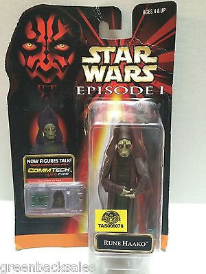 (TAS008076) - Star Wars Episode I CommTech Figure - Rune Haako, , Action Figure, Star Wars, The Angry Spider Vintage Toys & Collectibles Store