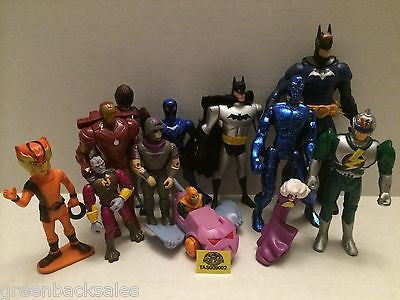 (TAS009002) - Mixed Action Figures Lot - Batman, Thundercats, Iron Man, , Action Figure, Varies, The Angry Spider Vintage Toys & Collectibles Store