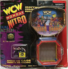 (TAS008216) - Toymakers WCW nWo Wrestling Heavyweight Championship Buckle, , Action Figure, Wrestling, The Angry Spider Vintage Toys & Collectibles Store