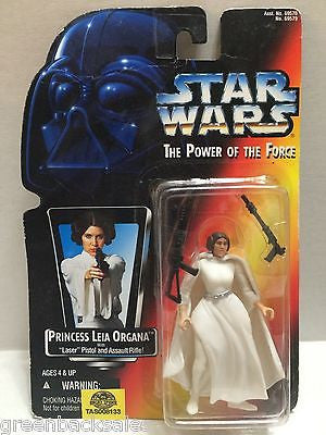 (TAS008133) - Hasbro Star Wars Power of the Force Figure - Princess Leia Organa, , Action Figure, Star Wars, The Angry Spider Vintage Toys & Collectibles Store