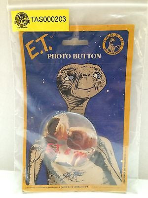 (TAS000203) - E.T. The Extra-Terrestrial Photo Button, , Button, E.T, The Angry Spider Vintage Toys & Collectibles Store