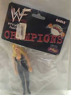 (TAS008167) - WWF WWE WCW Wrestling JusToys Bend-Ems Champions Figure - Sable, , Action Figure, Wrestling, The Angry Spider Vintage Toys & Collectibles Store