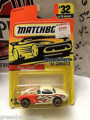 (TAS031526) - Matchbox Toy Car - '62 Corvette, , Cars, Matchbox, The Angry Spider Vintage Toys & Collectibles Store