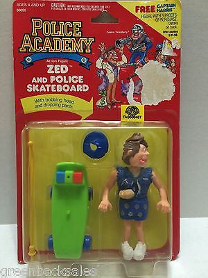 (TAS008457) - The Police Academy Figure - Zed and Police Skateboard, , Action Figure, n/a, The Angry Spider Vintage Toys & Collectibles Store