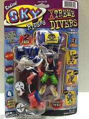 (TAS008522) - JARU Radical Sky Riders Xtreme Divers w/ Parachutes Figures, , Action Figure, JARU, The Angry Spider Vintage Toys & Collectibles Store