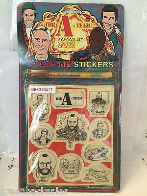 (TAS030464) - Vintage The A-Team Color Me Stickers Set, , Stickers, The A-Team, The Angry Spider Vintage Toys & Collectibles Store