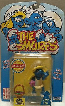 (TAS006712) - Irwin The Smurfs Action Figure - Smurfette, , Action Figure, The Smurfs, The Angry Spider Vintage Toys & Collectibles Store