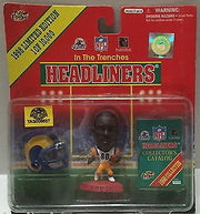 (TAS006637) - 1998 NFL QB Club Collectible Headliners Figure - Isaac Bruce, , Action Figure, NFL, The Angry Spider Vintage Toys & Collectibles Store