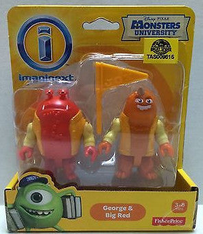 (TAS009615) - Disney Pixar Monsters University - Imaginext - George & Big Red, , Action Figure, Disney, The Angry Spider Vintage Toys & Collectibles Store