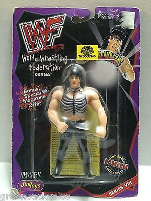 (TAS008345) - WWF WWE WCW nWo Wrestling JusToys Bend-Ems Action Figure - Chyna, , Action Figure, Wrestling, The Angry Spider Vintage Toys & Collectibles Store