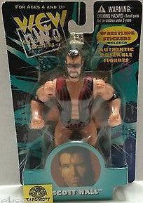 (TAS008077) - WCW WWE WWF Wrestling Authentic Poseable Figures - Scott Hall, , Action Figure, Wrestling, The Angry Spider Vintage Toys & Collectibles Store