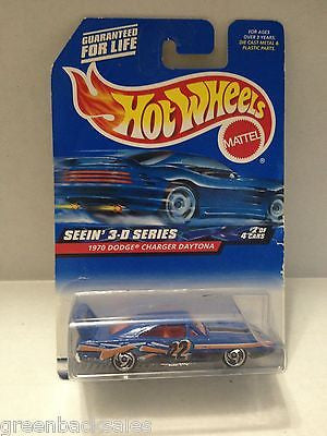 (TAS010124) - 2000 Mattel Hot Wheels Die Cast Replica-1970 Dodge Charger Daytona, , Trucks & Cars, Hot Wheels, The Angry Spider Vintage Toys & Collectibles Store  - 1