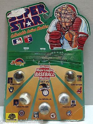 (TAS007020) - 1990 Spectra Star Super Star Baseball Marbles - Set #2, , Marbles, Spectra Star, The Angry Spider Vintage Toys & Collectibles Store