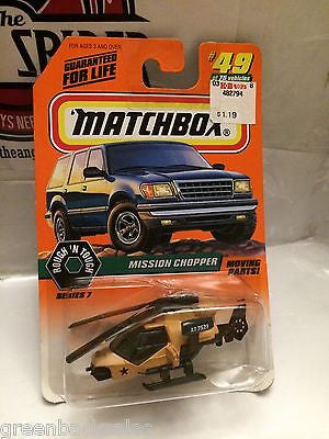 (TAS031520) - Matchbox Toy Car - Mission Chopper, , Cars, Matchbox, The Angry Spider Vintage Toys & Collectibles Store